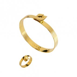 Gouden armband en ring