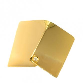 Gouden broche met diamantje