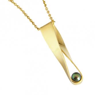 Gouden hanger met parel