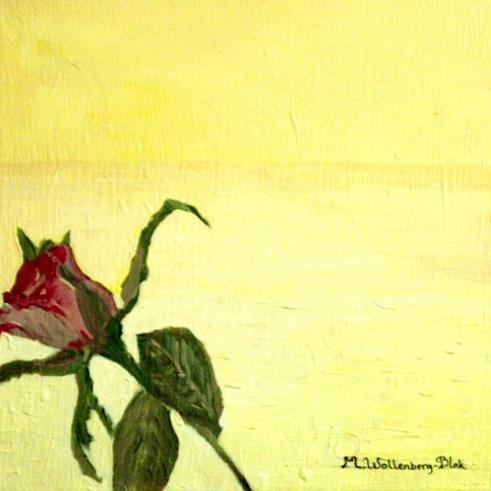 Roos in de woestijn