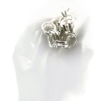 Zilveren schakelarmband